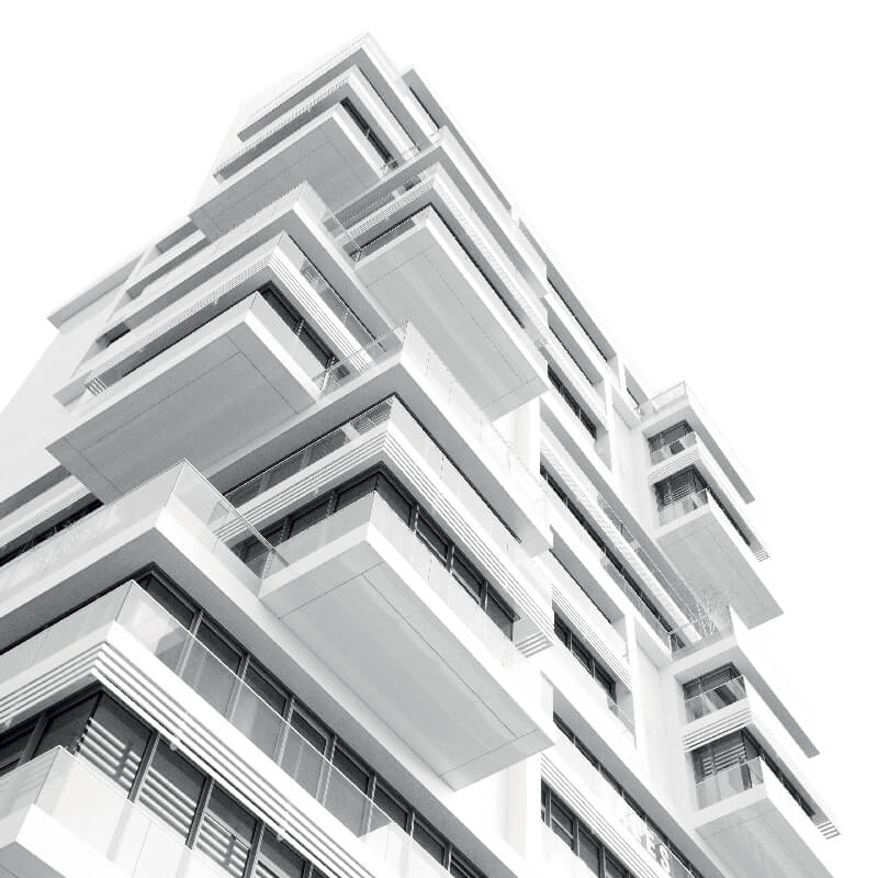 A multi-storey residential building