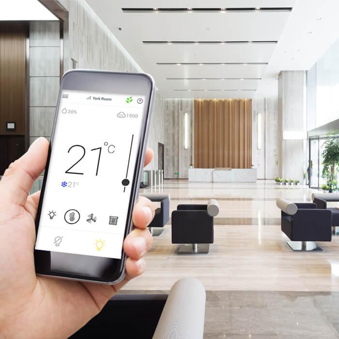 Les occupants des bâtiments peuvent gérer leurs paramètres de confort via une application mobile.