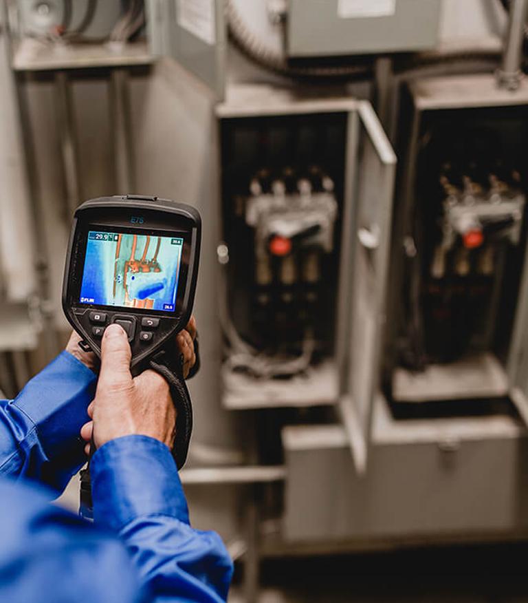 Thermographie des équipements de contrôle